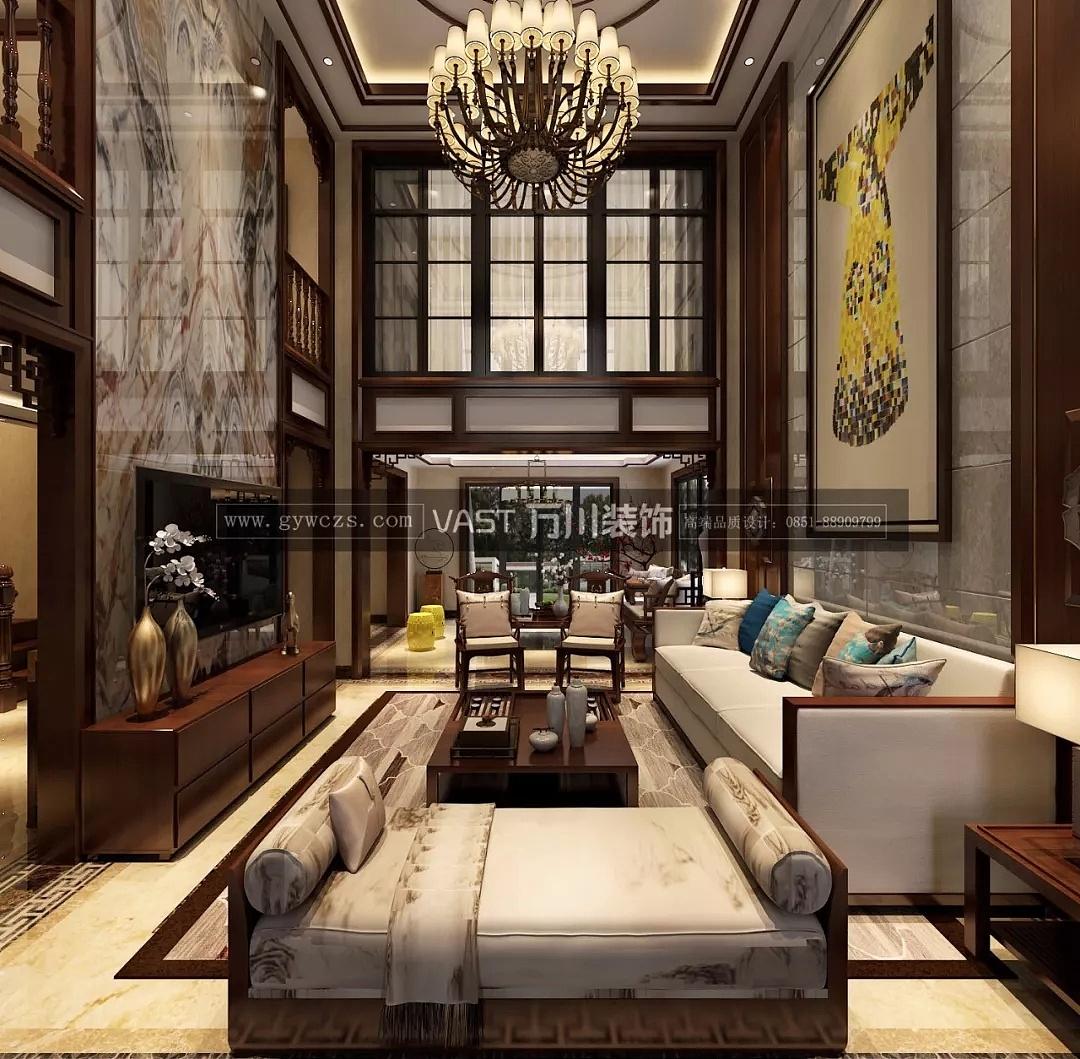 贵阳中航城别墅278平米中式别墅装修设计效果图一般风格面积图片