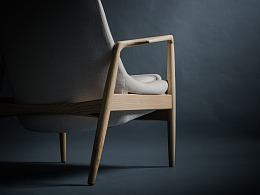 家具——北欧实木沙发椅(一)