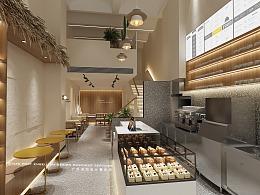 2021新款网红泰国奶茶店铺商场临街店铺东南亚风格