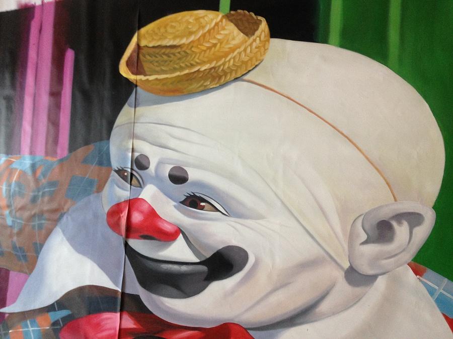 手绘《小丑》3d立体画|墙绘/立体画|其他|广州3d立体