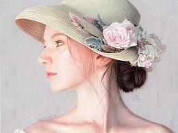 戴帽子的女子