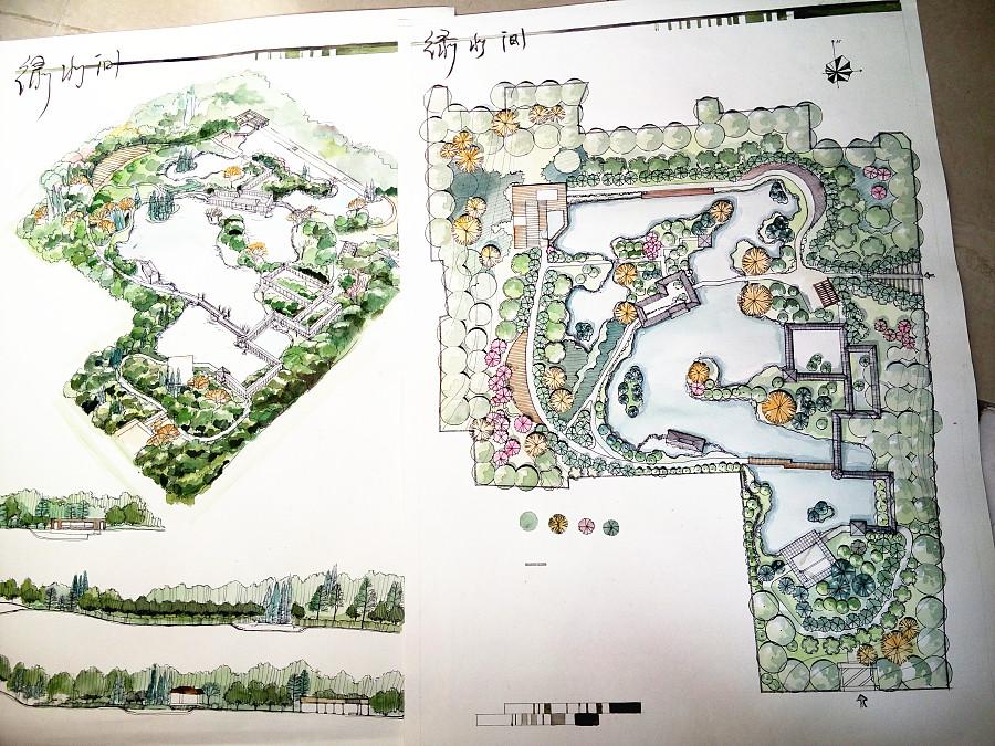 景观方案手绘平面图|园林景观/规划|空间/建筑|pinpp