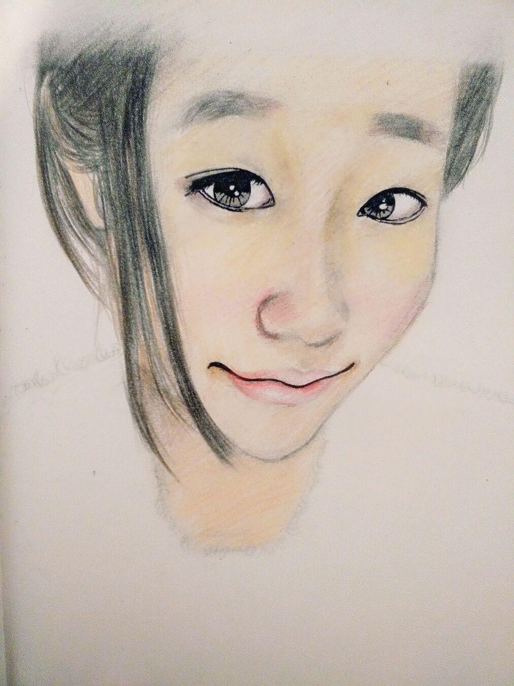 京剧女子手绘彩铅