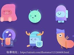 【临摹】可爱的小动物插画