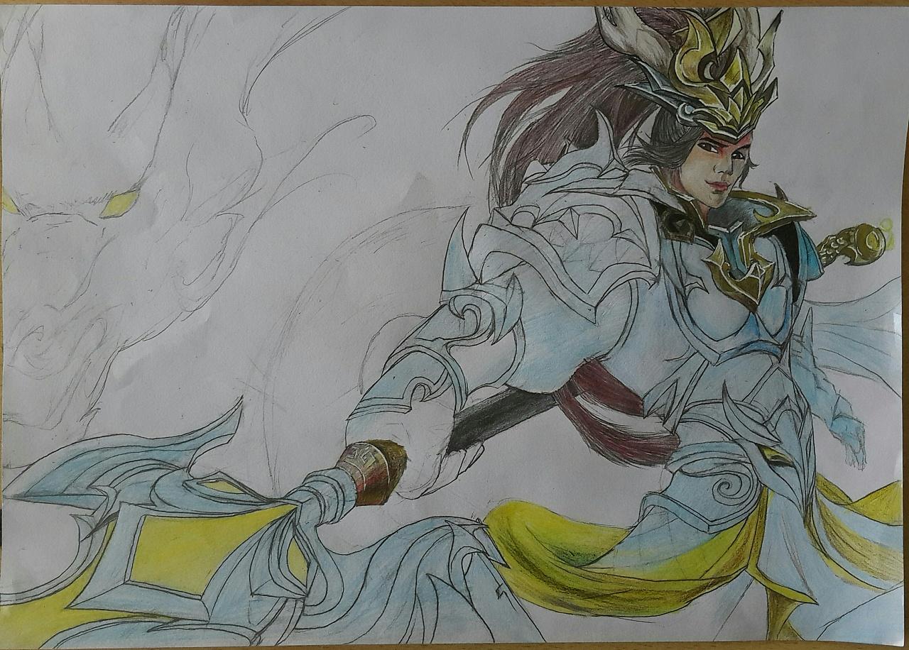 王者荣耀英雄手绘