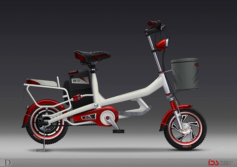 电动自行车手绘(设计稿)|交通工具|工业/产品|咩小大