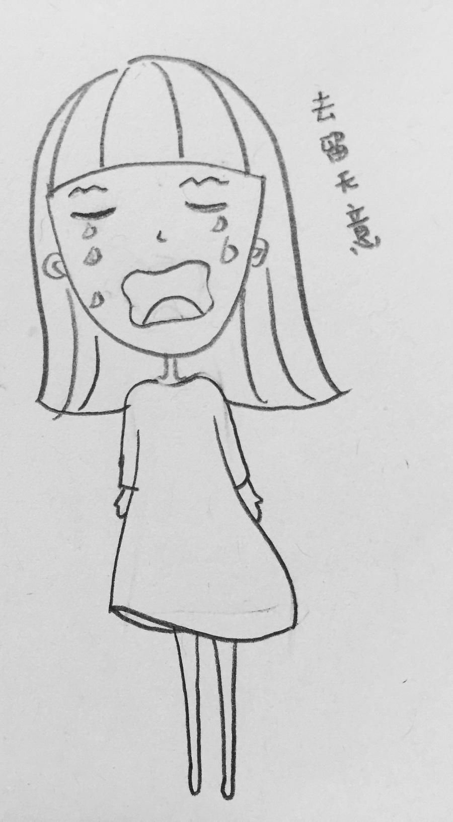 可爱的小人儿—简笔画|绘画习作|插画|小蕾leila