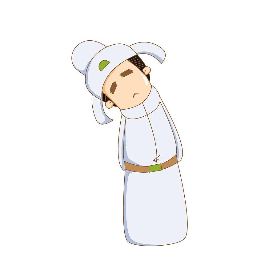 歪脖卡通李白