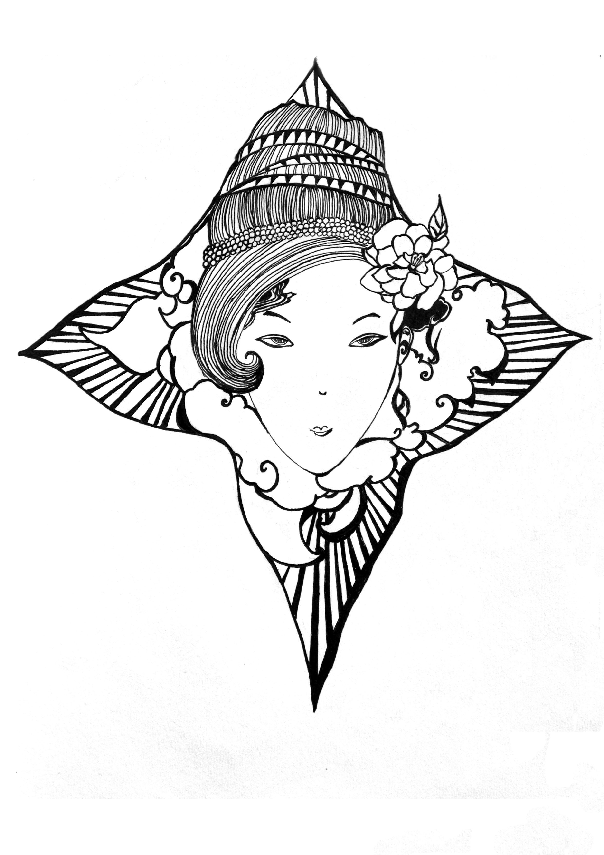 黑白 插画 插画习作 李很丑 - 原创作品 - 站酷