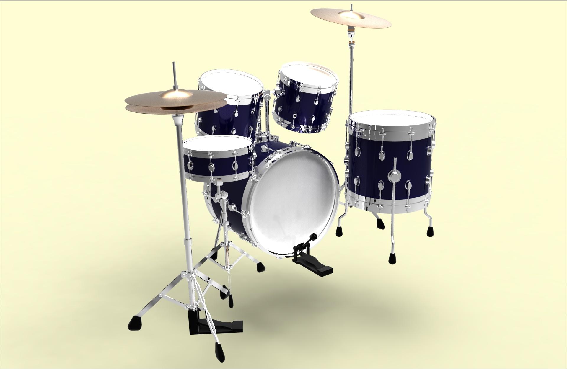 3d练习作品 架子鼓