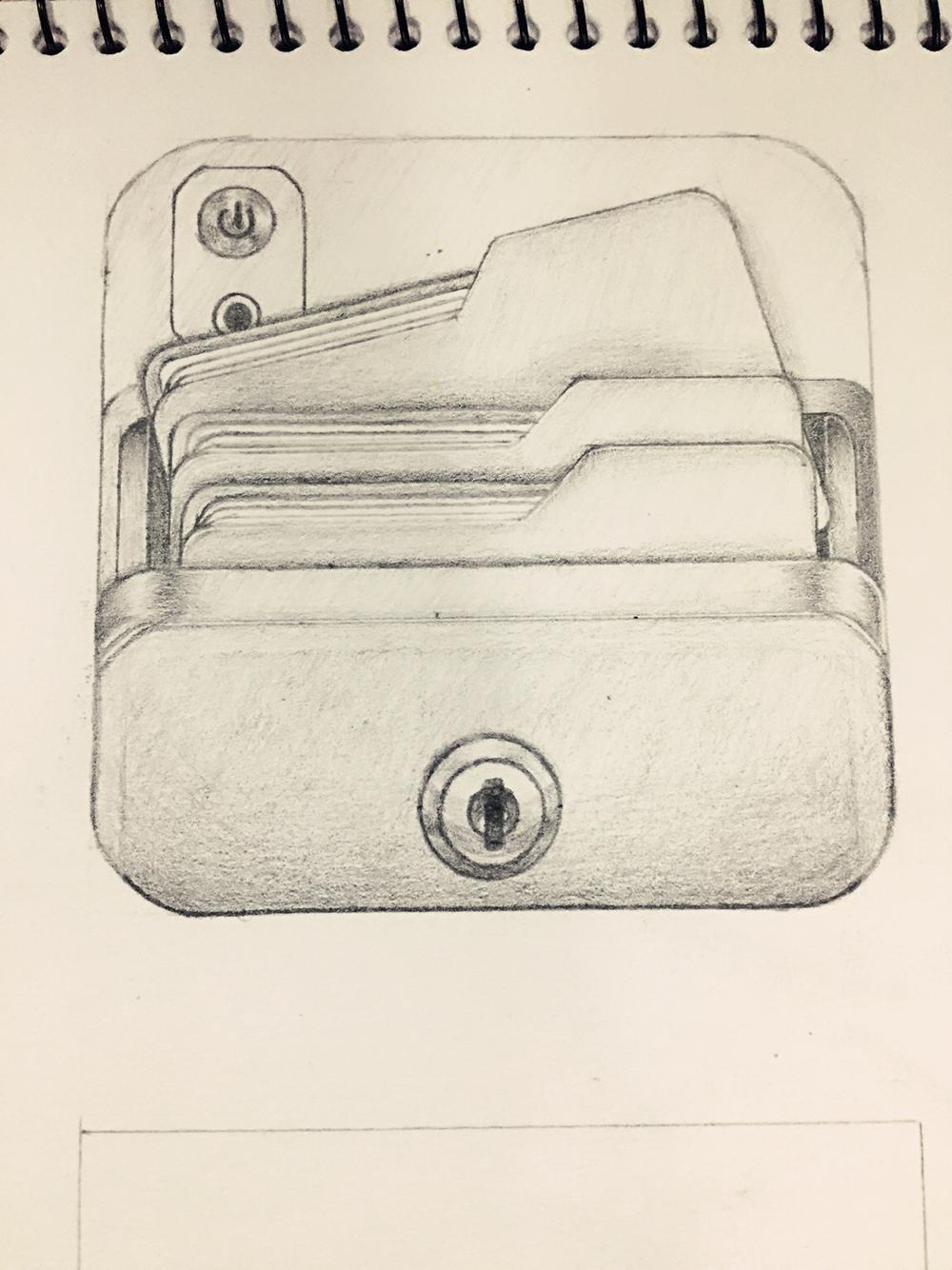 包包款式图手绘