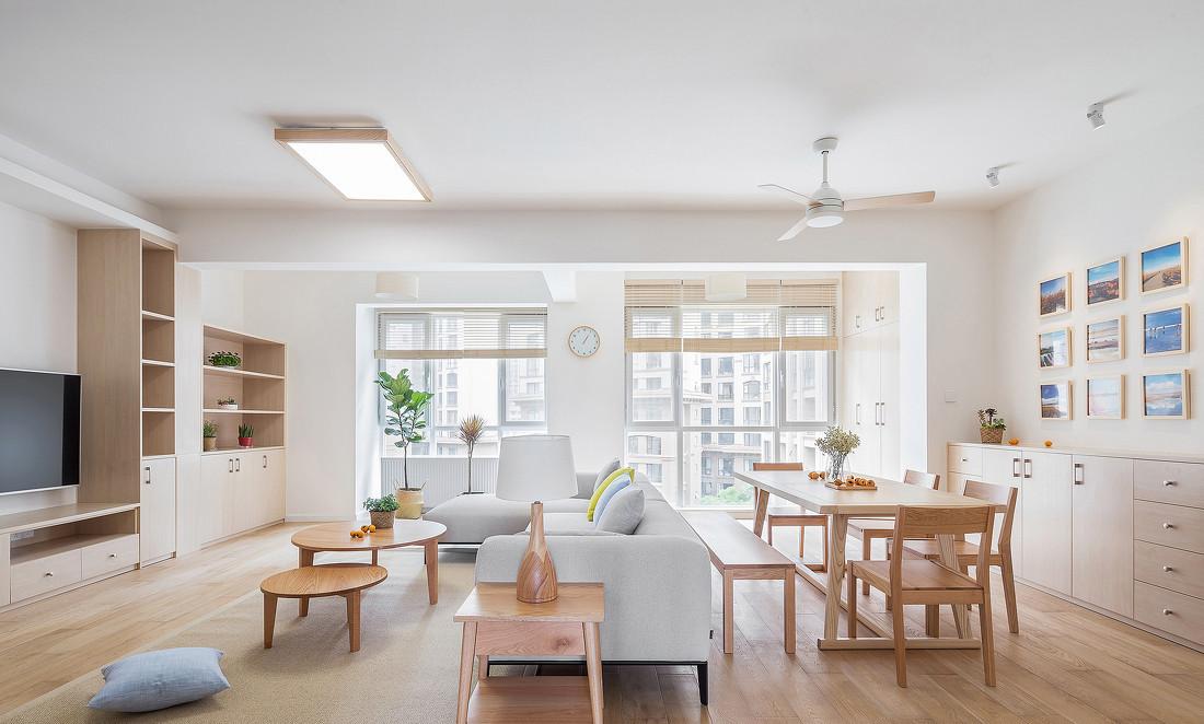 现代简洁日式空间,简约自然|碧海|室内设计|莒县日照济南风格建筑设计院图片