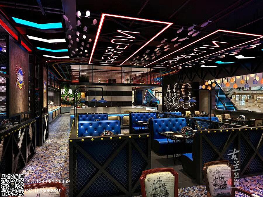 qq餐厅夜店风格_大东海海鲜牛排-成都海鲜餐厅装修 海鲜餐厅设计公司 空间 室内 ...