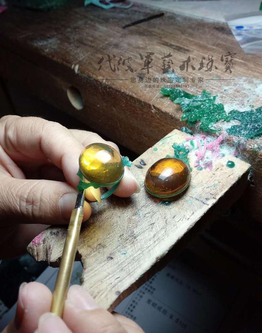 查看《代波军艺术珠宝定制-----蜜蜡就像黄昏的后花园》原图,原图尺寸:835x1061