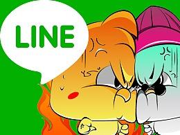 LINE-小萌鸡表情设计