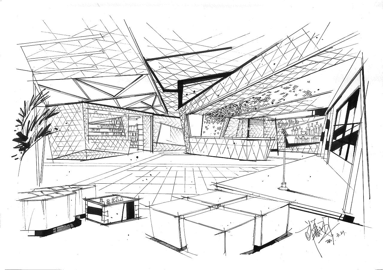 手绘空间|空间|室内设计|18234041371wxy - 原创作品