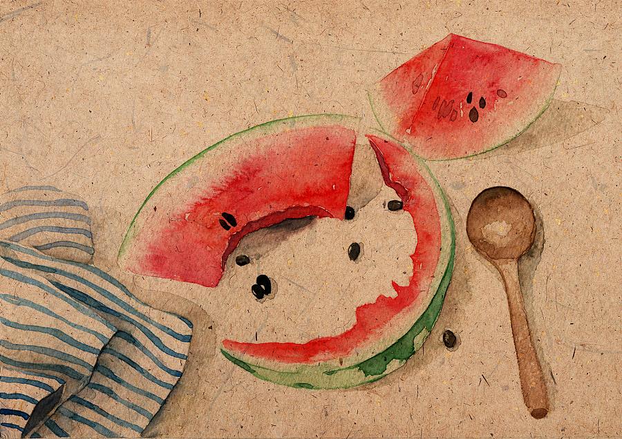 24节气食物手绘