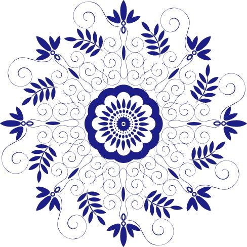青花瓷纹样|平面|图案|李家麦兜兜 - 原创作品 - 站酷图片