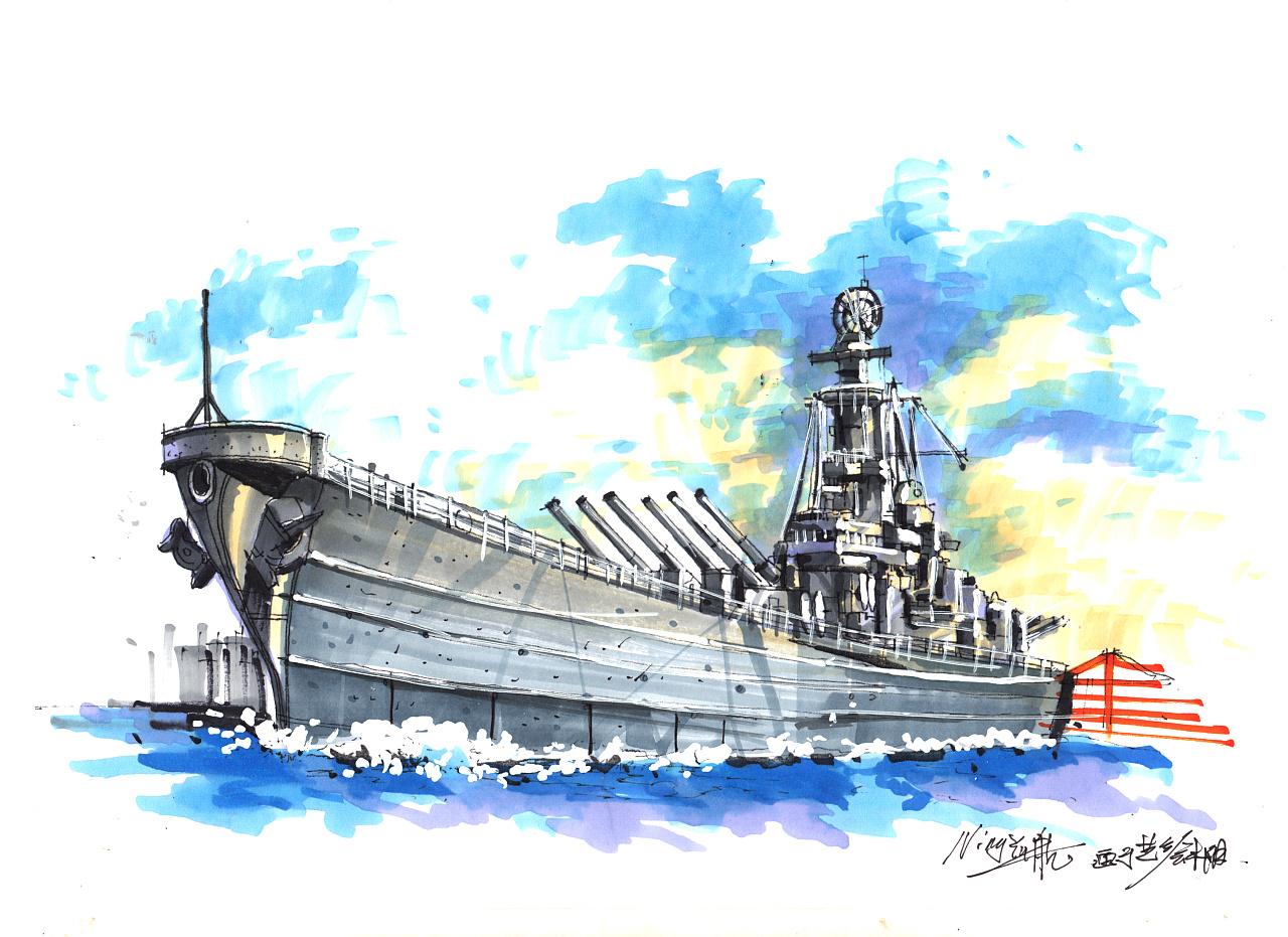 反法西斯70周年纪念画的手绘作品.图片