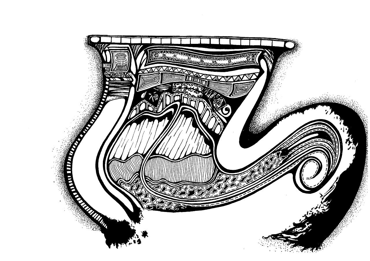《手绘|黑白装饰画》(三)——建筑