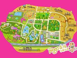 银川兵沟旅游区手绘地图