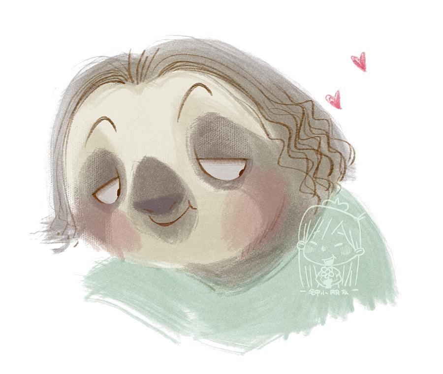 树懒情侣头像|儿童插画|插画|钟小朋友 - 原创设