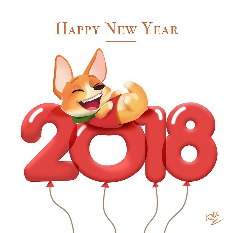 happy new year 2018图片