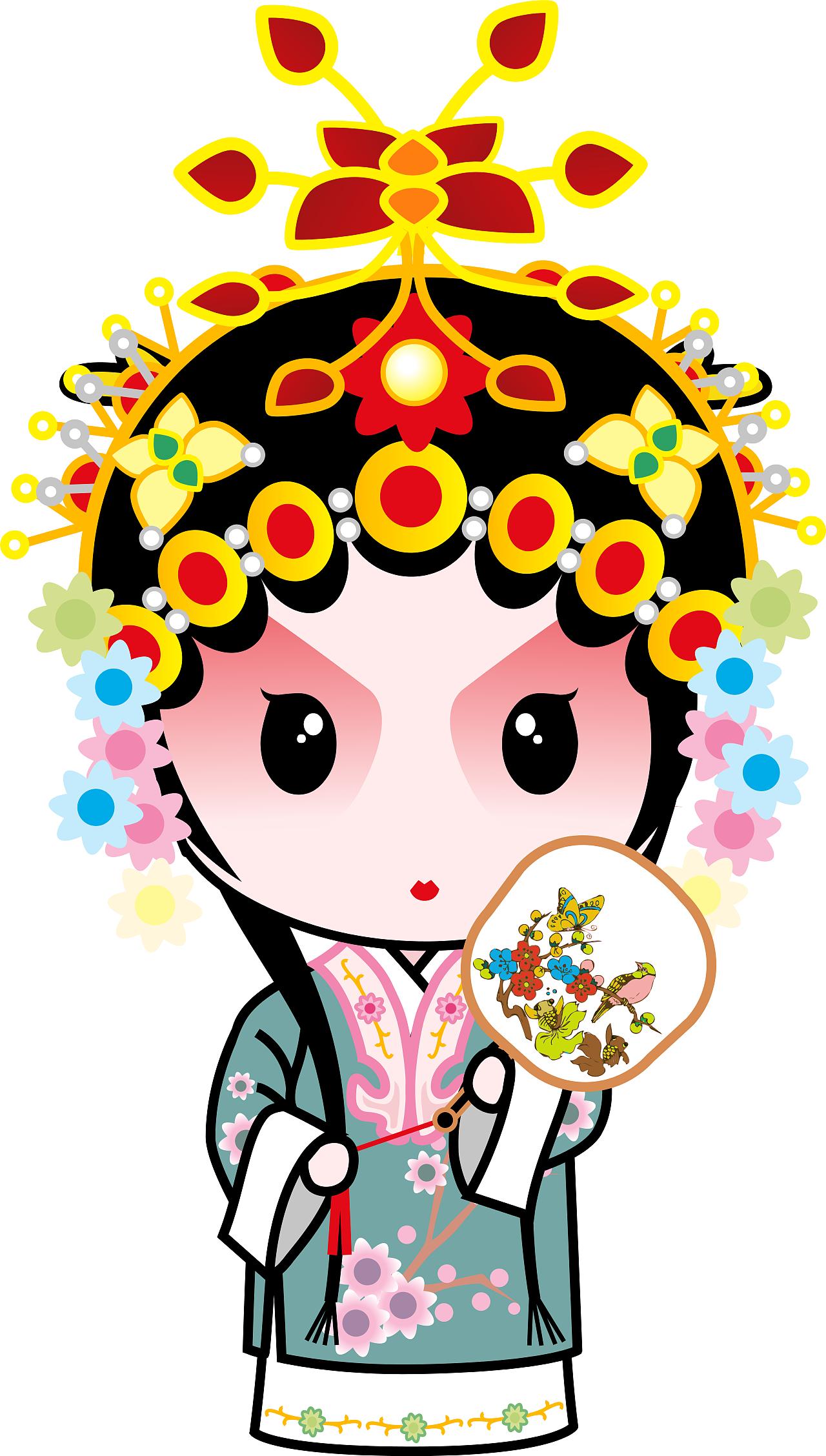 国粹京剧国粹宝贝q版京剧动漫卡通高清大图