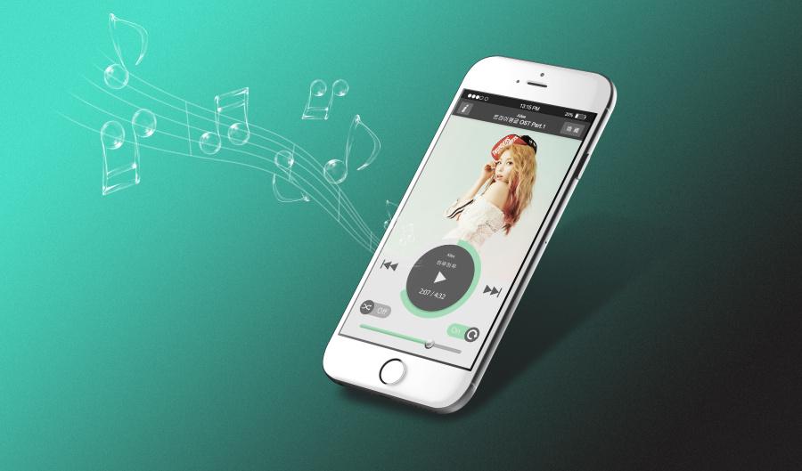 苹果手机音乐合成界面设计播放效果|其他网页安卓双击平面图片