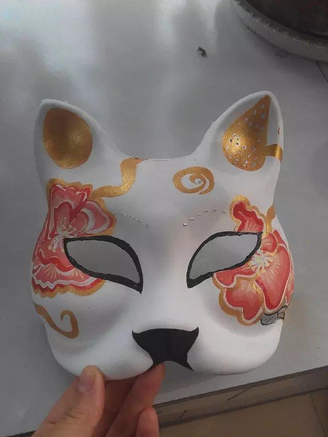 狐狸面具手绘