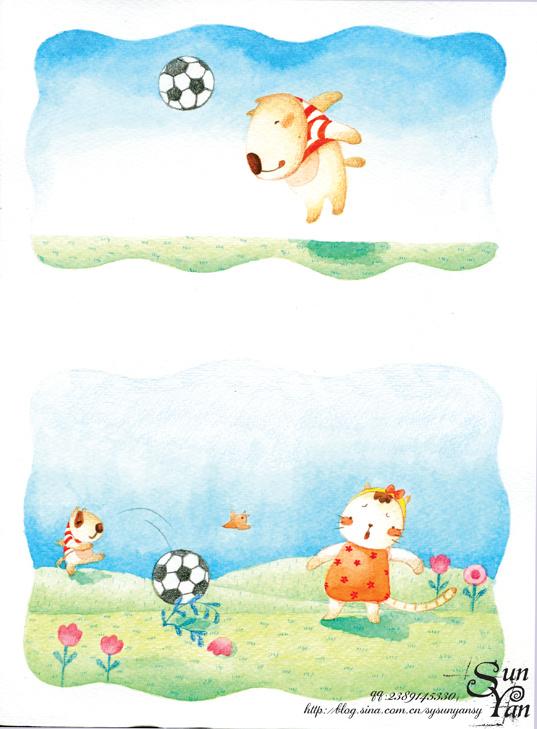 末末的彩铅世界-手绘画报故事(3)