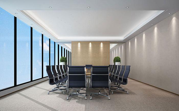 能源投资有限公司办公室装修设计案例效果图