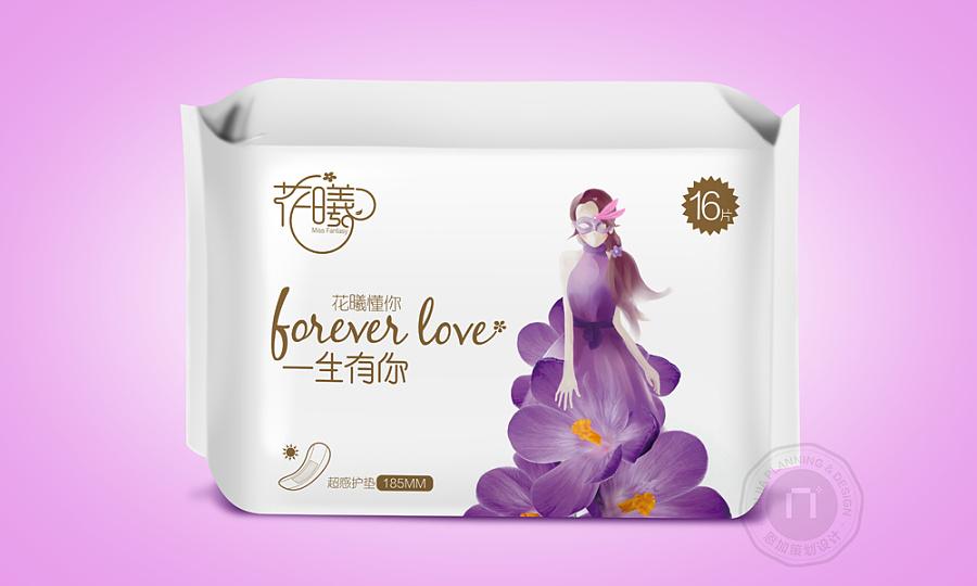 原创作品:花曦_卫生巾包装设计-恩加品牌策划龙江顺德房屋设计图片