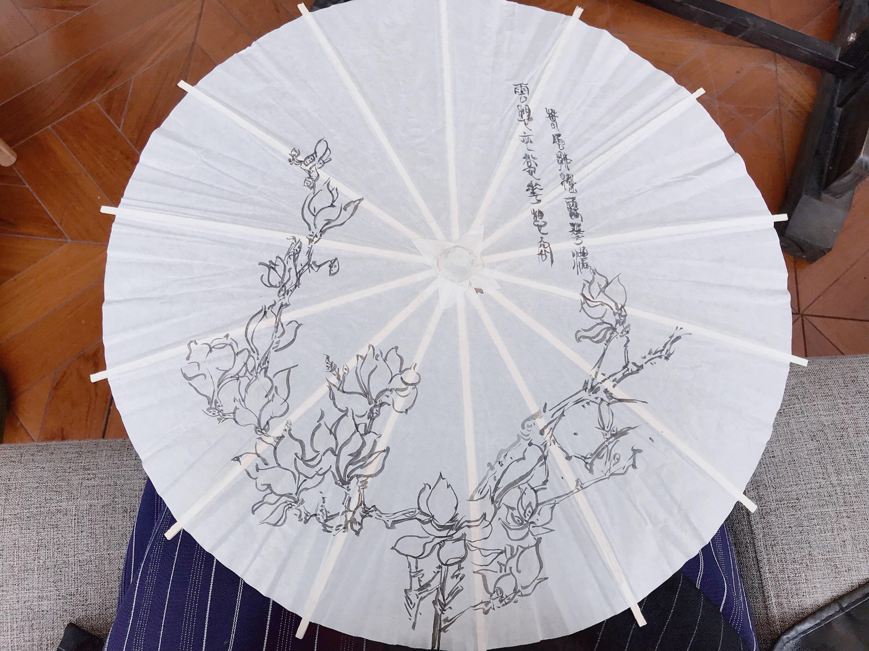 手绘小纸伞