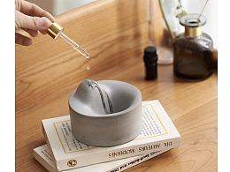 尘市集|水泥香器加香精混凝土凹凸桌面摆件收纳小物件