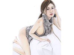 【驴大萌彩铅教程201】手绘小姐姐 CN杀手毛衣