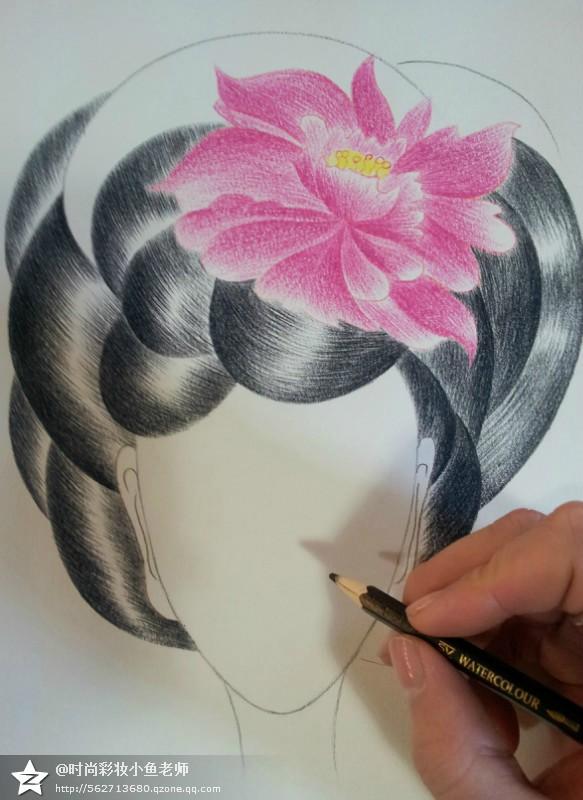 我的妆面手稿美人图|彩铅|纯艺术|时尚彩妆小鱼老师