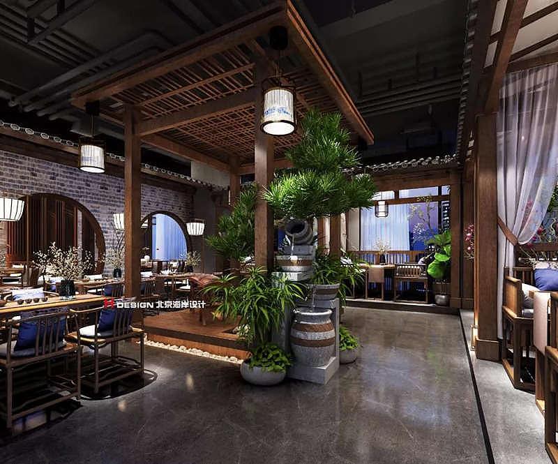 贵阳墨府餐厅古风名片设计镂空设计音乐图片