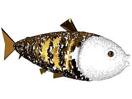 鲤鱼 金属质感 新年 财运滚滚 素材