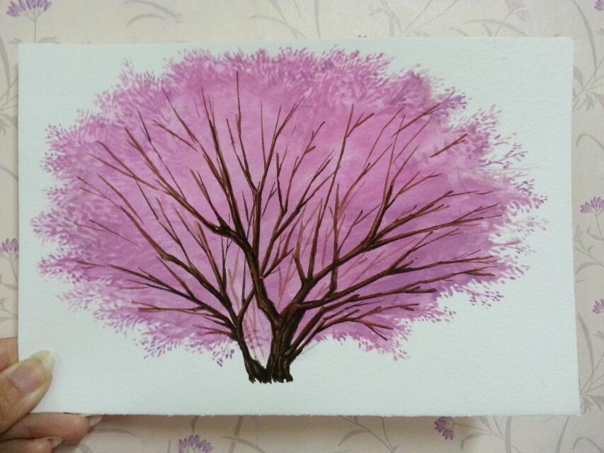樱花树树枝图片简笔画