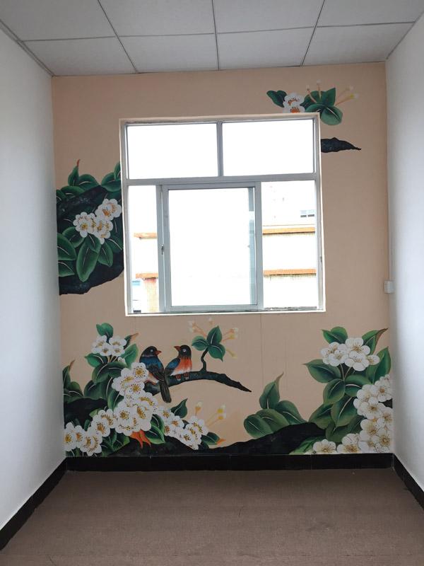 大型餐饮酒店会所壁画,大型外墙壁画,古建筑彩绘,酒吧咖啡厅墙画,学校图片
