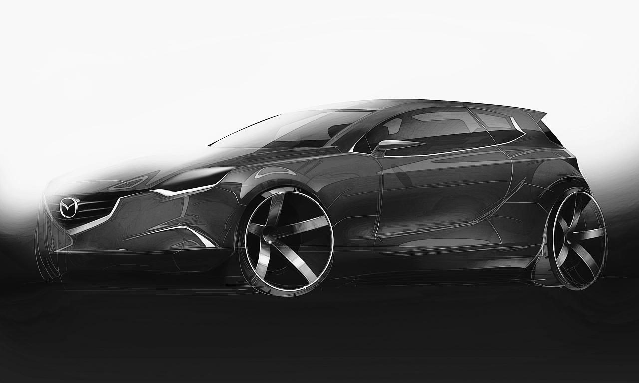 汽车设计手绘表现-mazda one!|工业/产品|交通工具|林