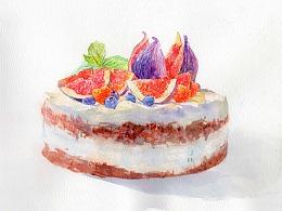 水彩绘画教程 | 这么漂亮的蛋糕,必须要画起来
