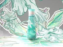 国潮化妆品产品设计+包装设计/自然之名x毛婷
