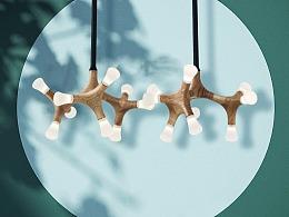 [木修远-花骨]原创现代新中式创意吊灯室内空间软装