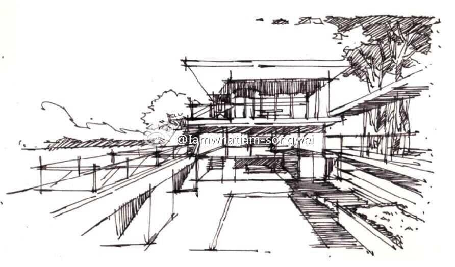 室内设计手绘基础---线稿练习|室内设计|空间/建筑