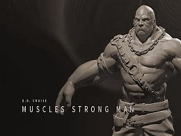 次世代人物雕刻_肌肉男