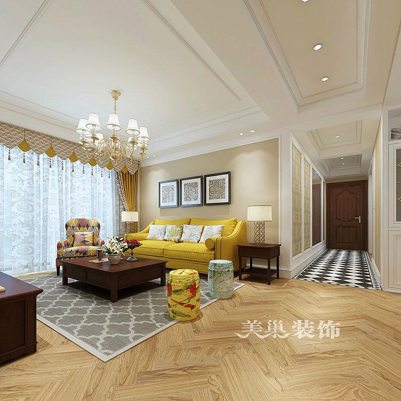 润丰锦尚130平装修,三室两厅田园风很棒很好看