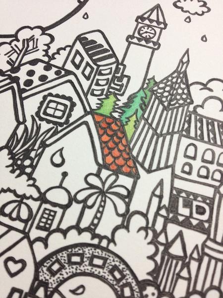 容易又漂亮的彩色铅笔画