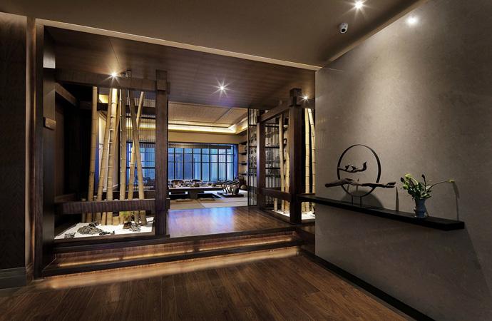 汤泉茶馆--德阳茶楼v茶楼|德阳蜗轮装修|室绘制茶楼内设图片